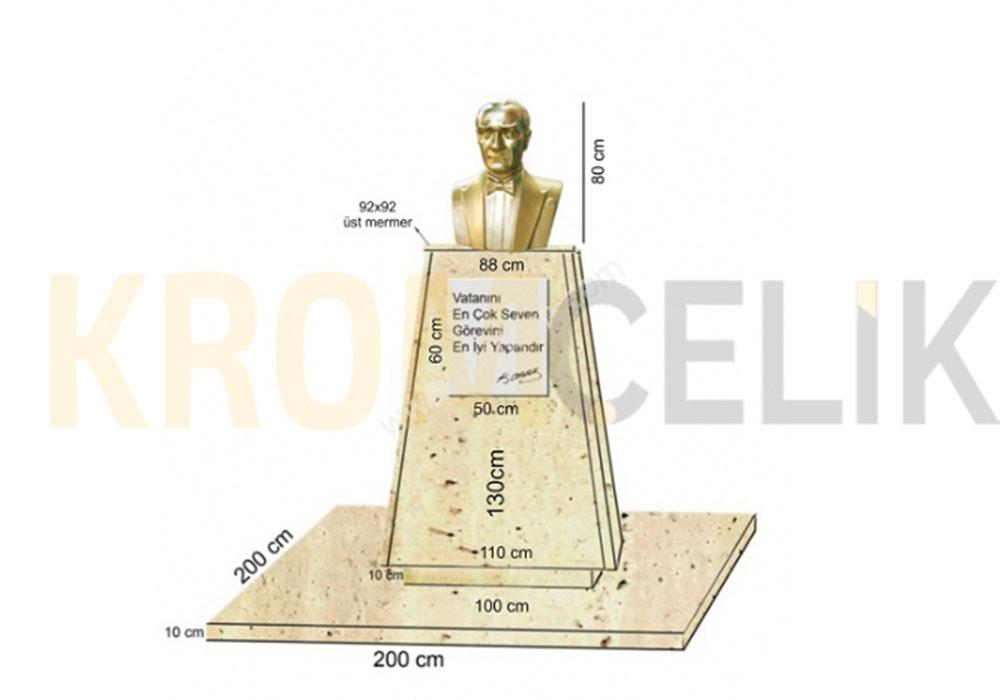 Atatürk Büstü Kaidesi 13