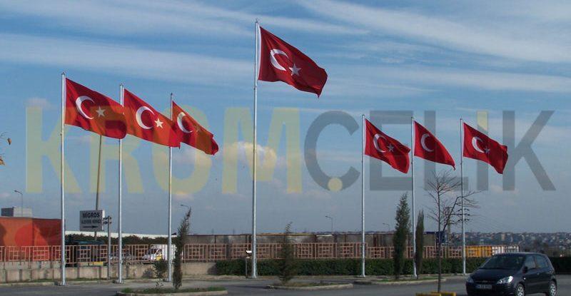 Galvanizli Bayrak Direği